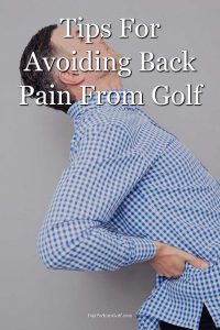 Man having back pain from golf