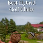 Picture of golfer hitting one of the best hybrid golf clubs on the market