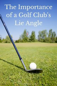 Picture of a golf club's lie angle