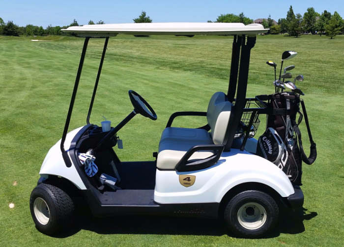 Picture of an electric motorized golf cart