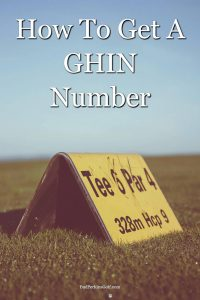How to get a GHIN number