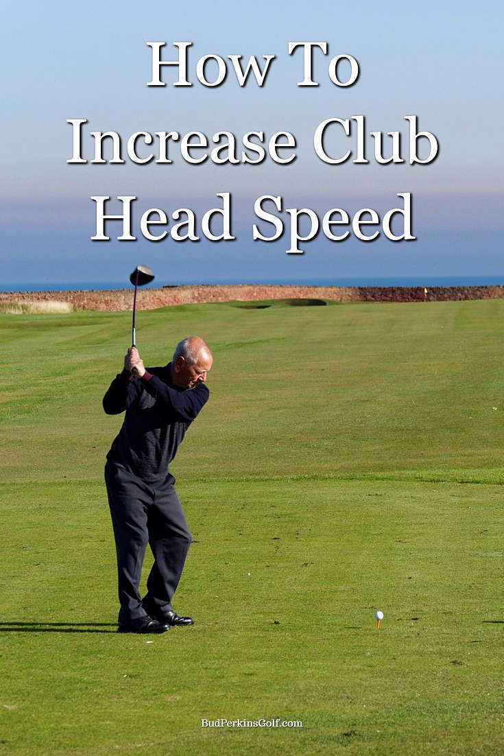 Golfer working on how to increase club head speed
